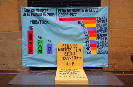 Concentración contra la pena de muerte en Pamplona