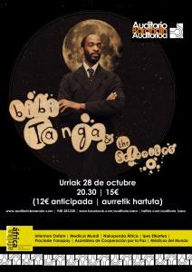Cartel del concierto de Bibi Tanga & The Selenites