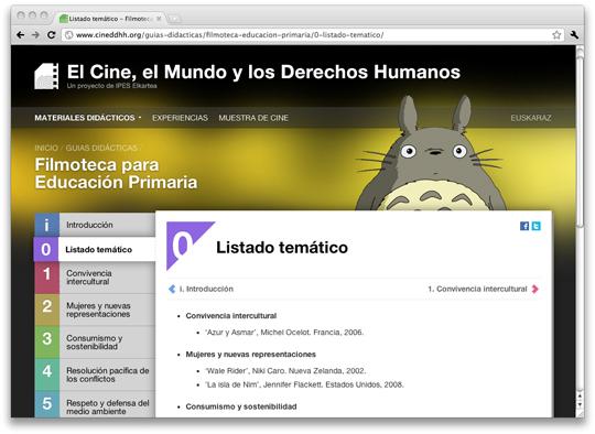 Guía didáctica 'Filmoteca para Educación Primaria'