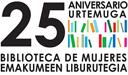 Logotipo del 25 aniversario de la Biblioteca