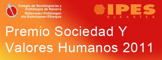 Premio Sociedad y Valores Humanos 2011