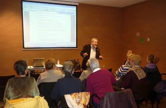 Fernando Armendáriz durante el taller