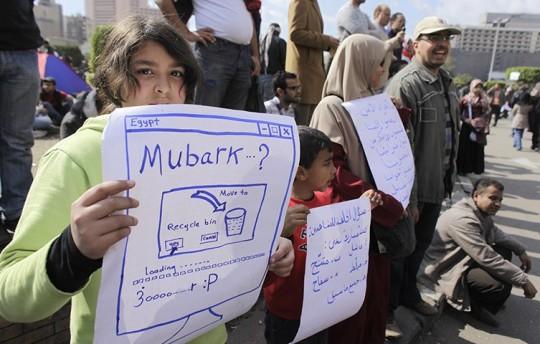 Protestas contra Mubarak