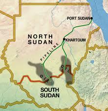 Mapa de Sudán y de Sudán del Sur