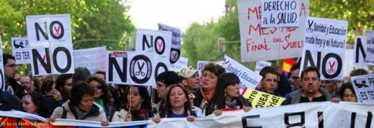 Manifestación contra la crisis