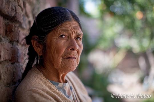 Anciana Mapuche (foto por Maite H. Mateo)