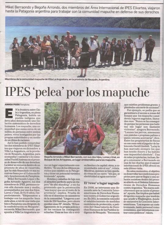Diario de Navarra-Mapuche